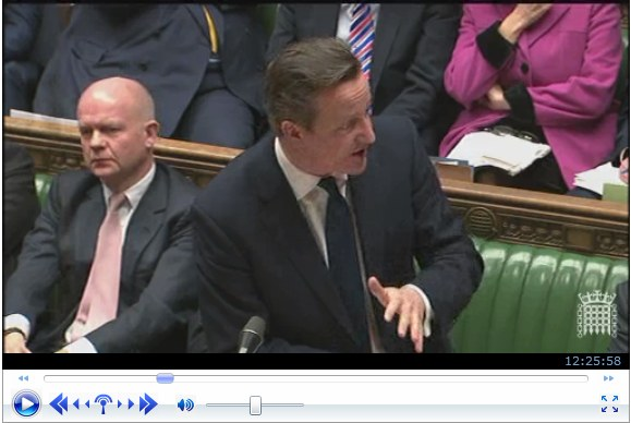 David Cameron expressing support for Perpetuus Tidal Energy Centre